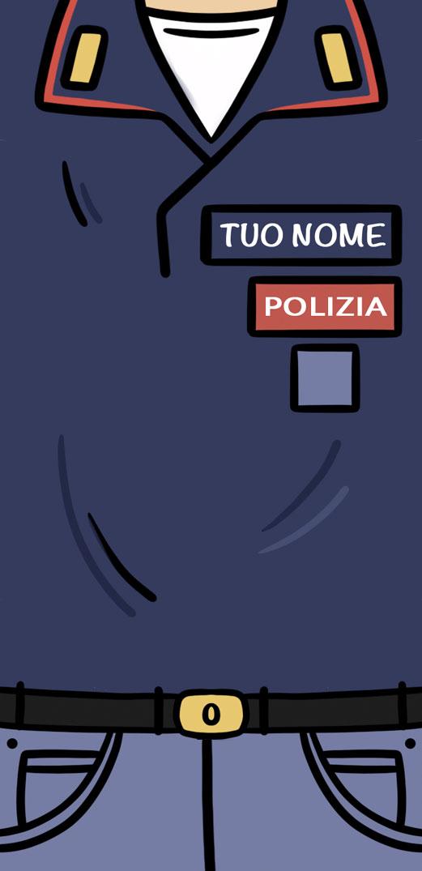 Divisa POLIZIA -Con il tuo NOME